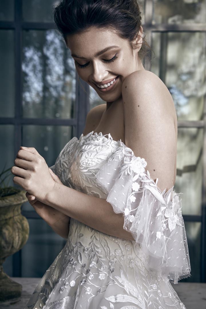 Amabella Helen-Bohem Kayık Romantik Gelinlik